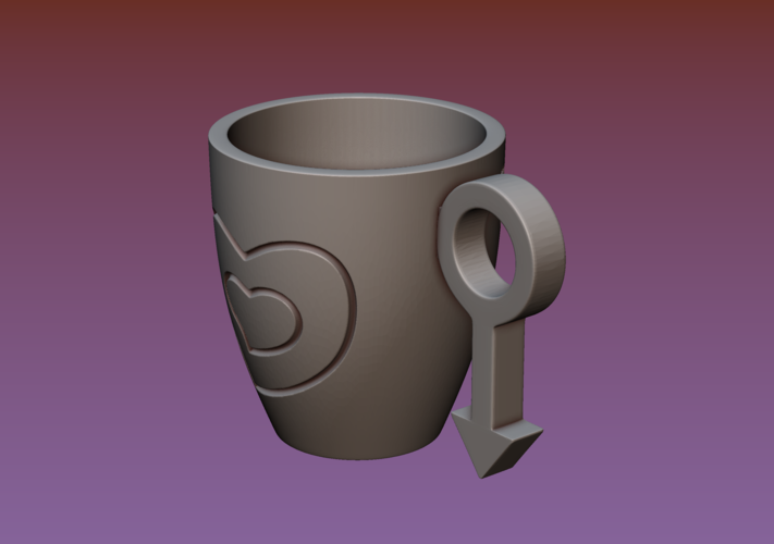 Cup with gender symbol 3D Print 180894