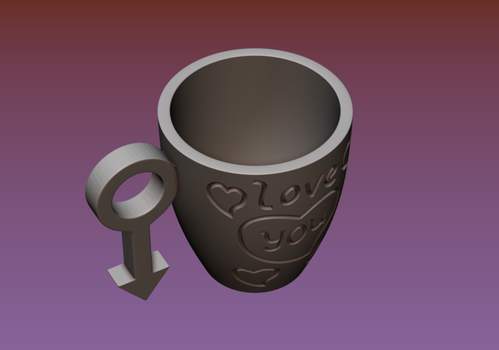 Cup with gender symbol 3D Print 180896