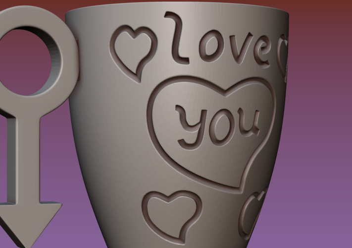 Cup with gender symbol 3D Print 180898