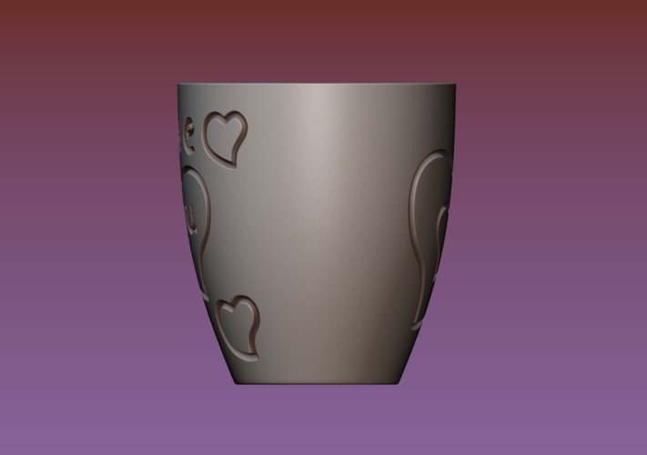 Cup with gender symbol 3D Print 180901