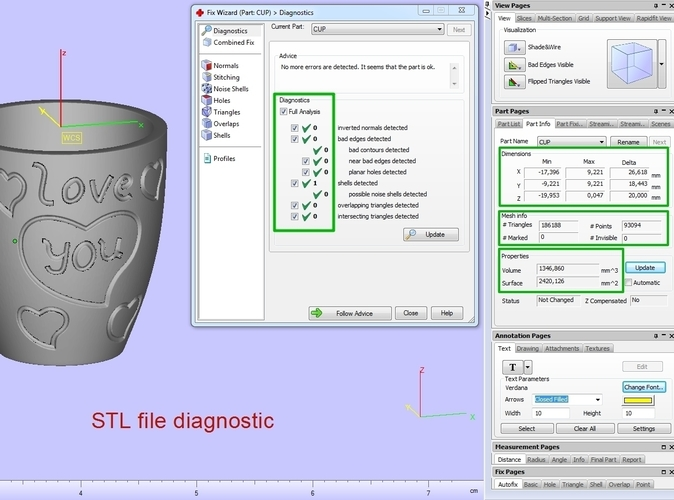Cup with gender symbol 3D Print 180906