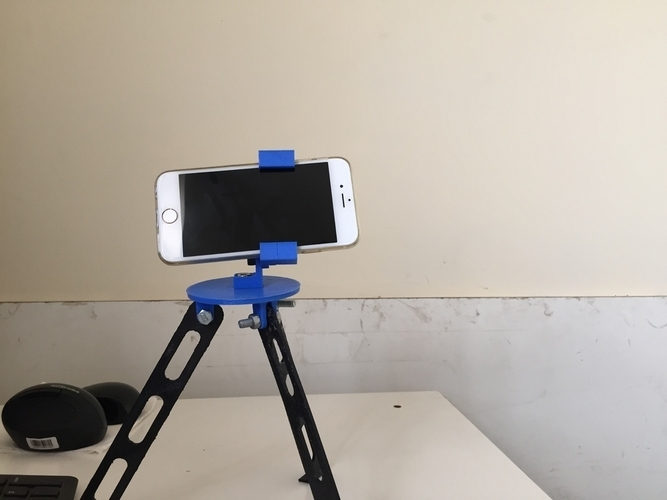 Tripod for iphone and go pro 3D Print 180917