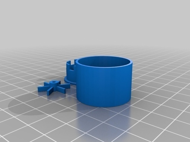 Water pump from CDROM drive motor 3D Print 181072