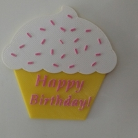 Small Cupcake birthday gift 3D Printing 181110