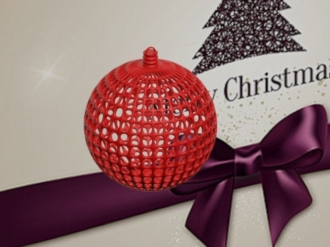 CHRISTMAS TREE BALL------CUSTOMIZABLE 3D Print 181148