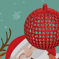 Small CHRISTMAS TREE BALL------CUSTOMIZABLE 3D Printing 181151