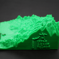 Small Ultra Sierra Nevada, Running mountain 3D Printing 181195