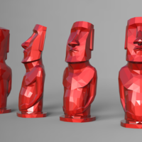 Small Low poly Moai 3D Printing 181213