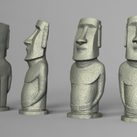 Small Moai statue  Easter Island  3D Printing 181215