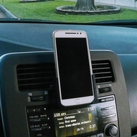Small Moto G4/G4+ phone holder with car CD player adapter 3D Printing 181275
