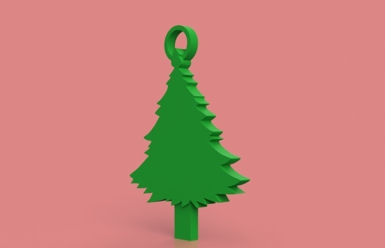 Christmas Tree Key Chain 3D Print 181301