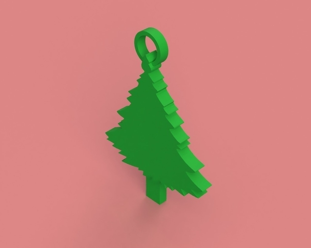 Christmas Tree Key Chain 3D Print 181302