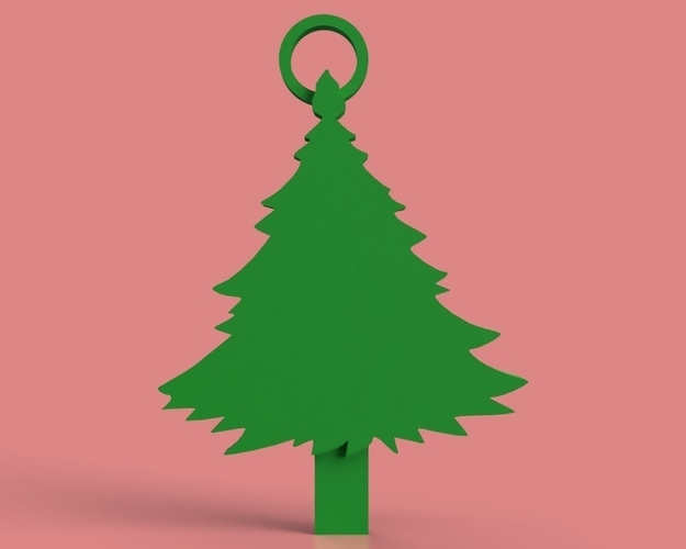Christmas Tree Key Chain 3D Print 181303