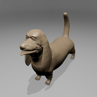 Small Basset Hound 3D Printing 181339