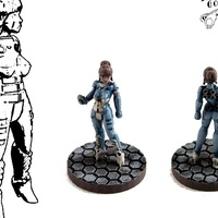 Small Alexandra Pryce, 28mm Miniature 3D Printing 1814