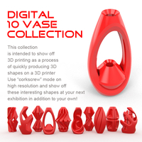 Small Digital Vase Collection (10 Designs) 3D Printing 181432