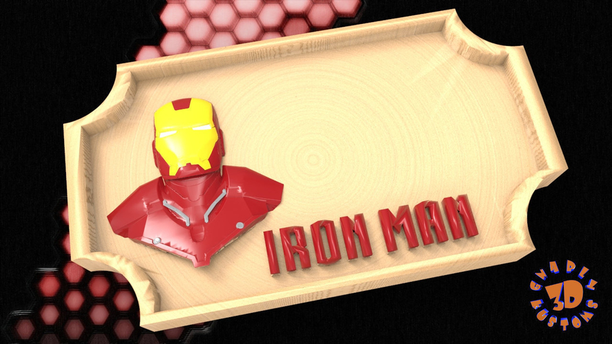 3d Printed Iron Man Bedroom Door Sign Template By Gnarly 3d Kustoms