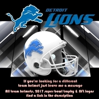 Small Detroit Lions Football Helmet 3D Printing 181519