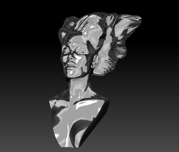 Angel, Wing-Haired Lady 3D Print 181561