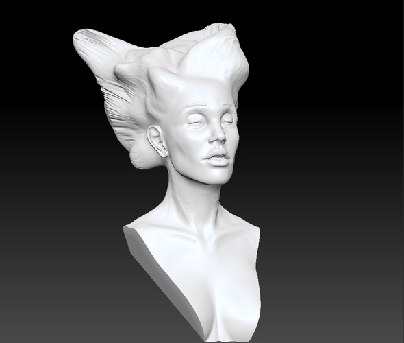 Angel, Wing-Haired Lady 3D Print 181563