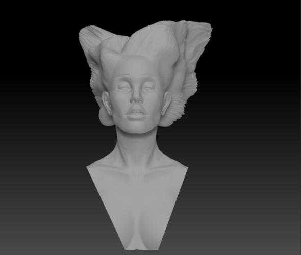 Angel, Wing-Haired Lady 3D Print 181564