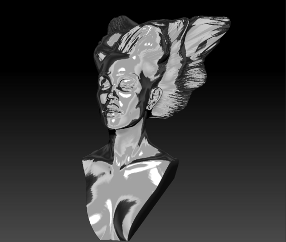 Angel, Wing-Haired Lady 3D Print 181566