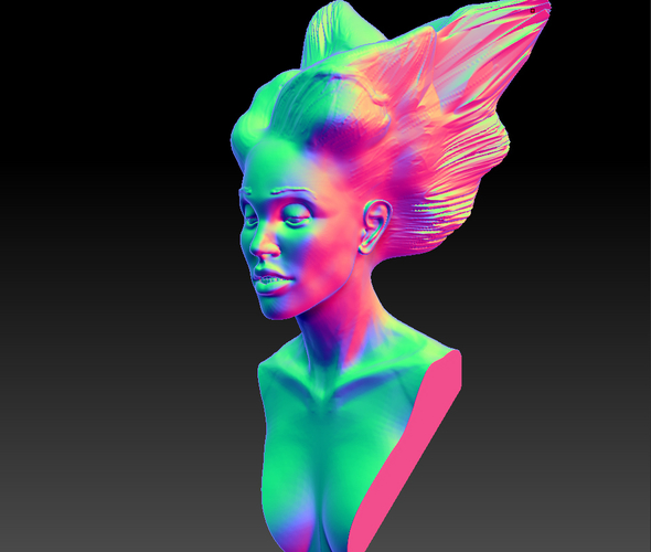 Angel, Wing-Haired Lady 3D Print 181568