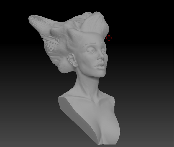 Angel, Wing-Haired Lady 3D Print 181569