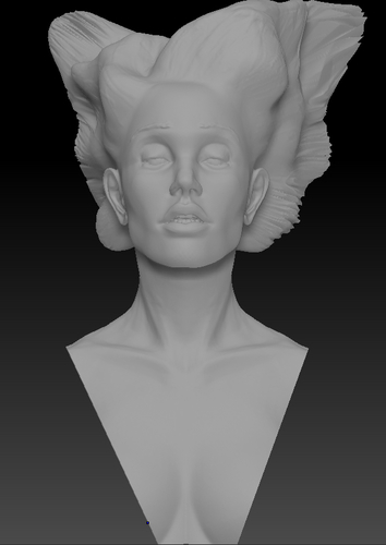 Angel, Wing-Haired Lady 3D Print 181570