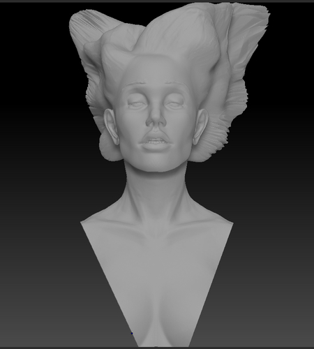 Angel, Wing-Haired Lady 3D Print 181571
