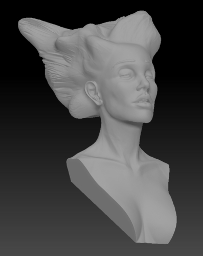 Angel, Wing-Haired Lady 3D Print 181573