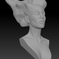 Small Angel, Wing-Haired Lady 3D Printing 181573
