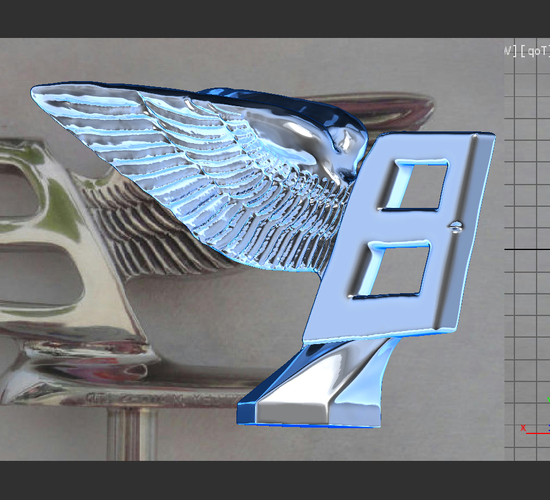 Pin By Bt On Flying B Bentley: 3D Printed Bentley Hood Ornament. Flying B Mascot By Am15