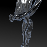 Small Rolls Royce hood ornament. Spirit of Ecstasy 3D Printing 181600