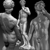 Small David by Michelangelo statue 3D Printing 181667
