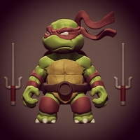 Small Chibi Mutant Ninja Turtles.... Raffa!! 3D Printing 181699