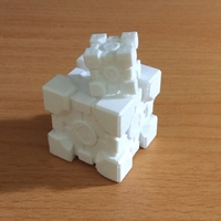 Small Companion Cube 3D Printing 181905