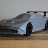 Small Low-Poly Aston Martin Vulcan 3D Printing 182072