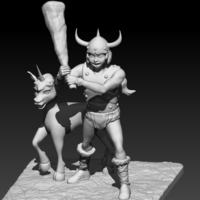 Small Bobby and the Unicorn 3D Printing 182101