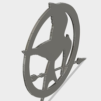 Small Mockingjay Coster 3D Printing 182127