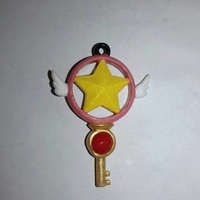 Small Sakura Card Captor key Medal 3D Printing 182285