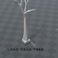 Small Lego Dead Tree 3D Printing 182438