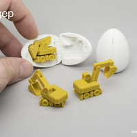 Small Surprise Egg #4 - Tiny Excavator 3D Printing 182495