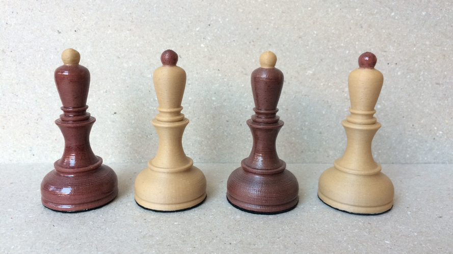 Dubrovnik Style Chess Set 3D Print 182565