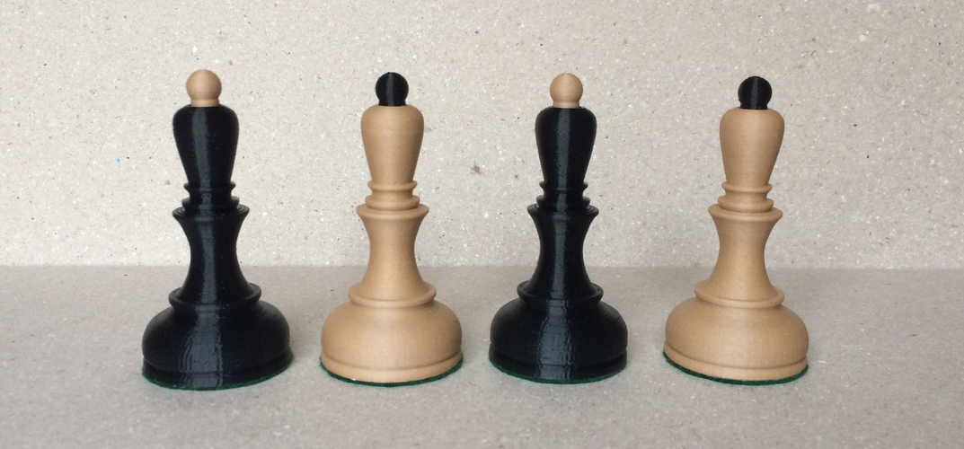 Dubrovnik Style Chess Set 3D Print 182567