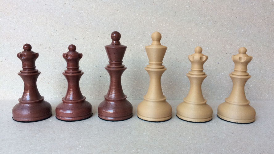 Dubrovnik Style Chess Set 3D Print 182574
