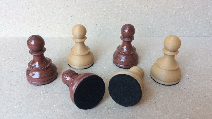 Dubrovnik Style Chess Set 3D Print 182576
