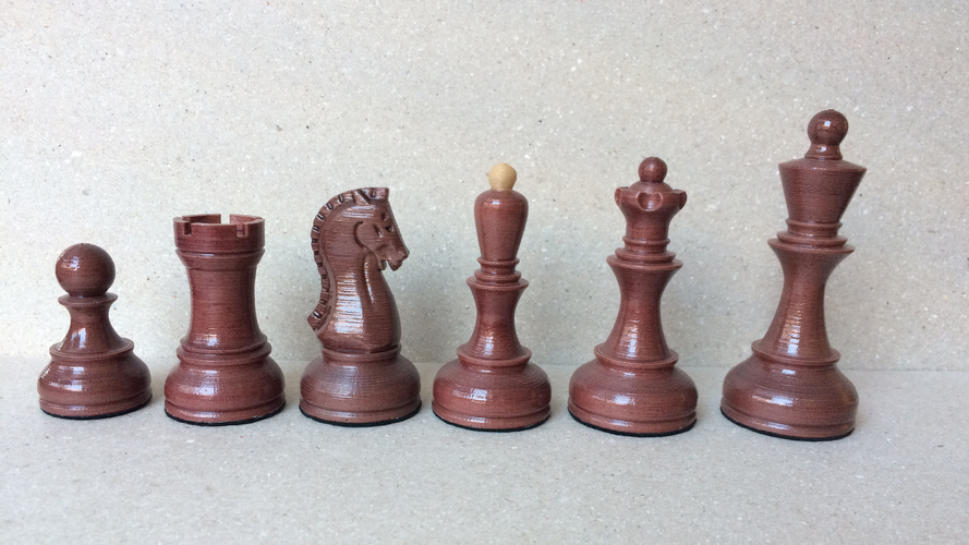 Dubrovnik Style Chess Set 3D Print 182577
