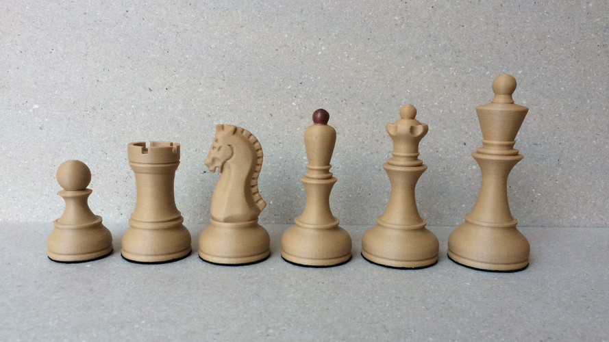 Dubrovnik Style Chess Set 3D Print 182578