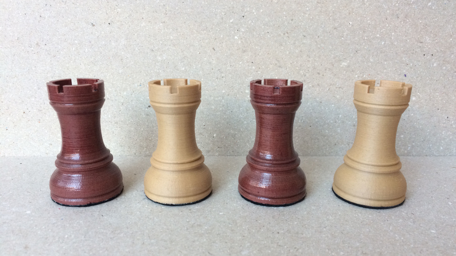 Dubrovnik Style Chess Set 3D Print 182579